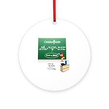 Christian Math Round Ornament