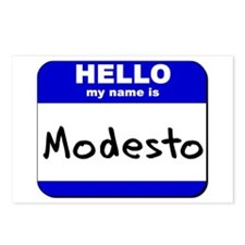 hello my name is modesto  Postcards (Package of 8)