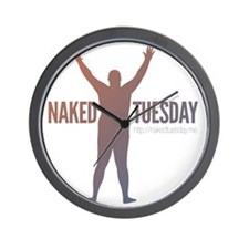 New NakedTuesday.me Tee Design 2 Wall Clock