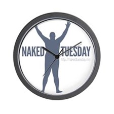 New NakedTuesday.me Tee Design 7 Wall Clock