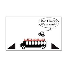 Rental Car Humor Car Magnet 20 x 12