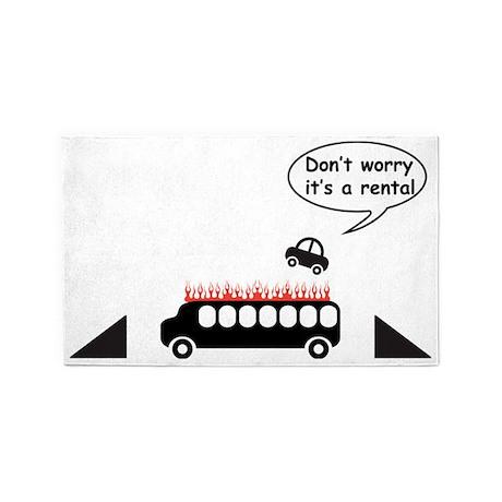 Rental Car Humor 3'x5' Area Rug