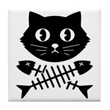 The Pirate Cat Tile Coaster