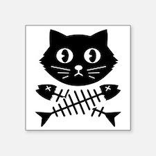 """The Pirate Cat Square Sticker 3"""" x 3"""""""
