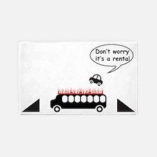 Its a rental 3'x5' Area Rug