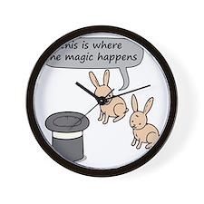 Rabbits and Magic Wall Clock