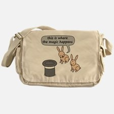 Rabbits and Magic Messenger Bag