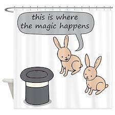 Rabbits and Magic Shower Curtain