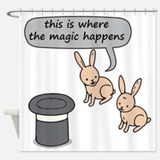 Rabbits and Magic Shower Curtain