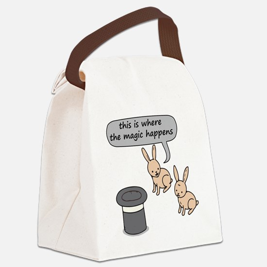 Rabbits and Magic Canvas Lunch Bag