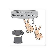 """Rabbits and Magic Square Sticker 3"""" x 3"""""""