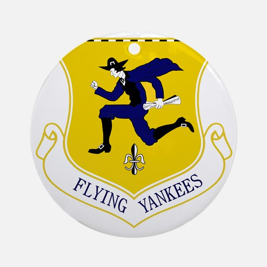103rd FW - Flying Yankees Round Ornament