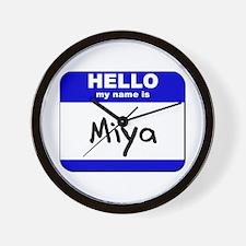 hello my name is miya  Wall Clock
