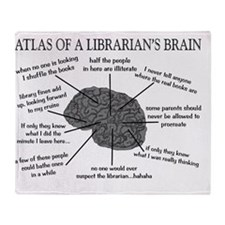Librarian Humor Throw Blanket