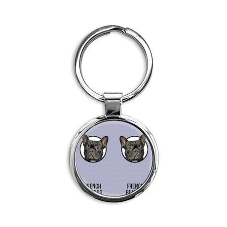 French Bulldog Dad Round Keychain