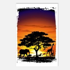 Wild Animals on African S Postcards (Package of 8)