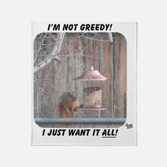 greedy Throw Blanket