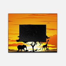 Wild Animals on African Savannah Sun Picture Frame