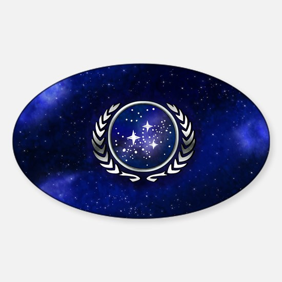 Federation Flag (license plate) Sticker (Oval)
