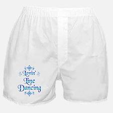 Lovin Line Dancing Boxer Shorts