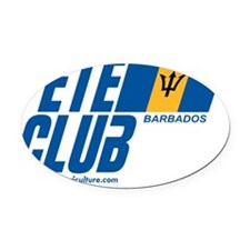 Fete Club Oval Car Magnet