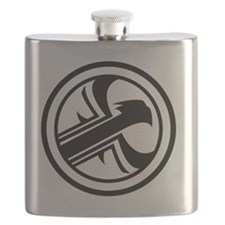Harrier Salvage Co. logo Flask