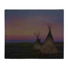 Tepees Throw Blanket