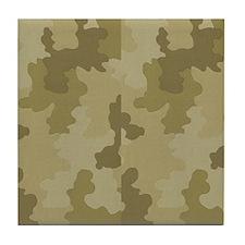 Light Camouflage Tile Coaster
