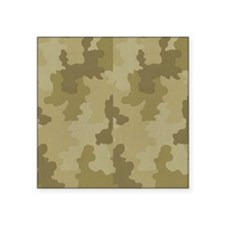 "Light Camouflage Square Sticker 3"" x 3"""