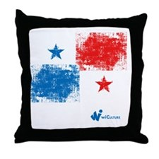 Panama Flag Throw Pillow