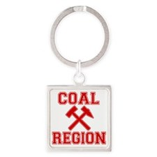 Coal Region X Square Keychain