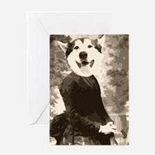 Husky in a dress Greeting Card