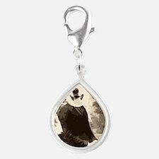 Husky in a dress Silver Teardrop Charm