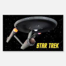 USS Enterprise High Resolution Sticker (Rectangle)