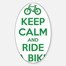 Keep Calm and Ride a Bike Decal