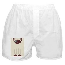 Cute Winking Cat Cartoon, Siamese Mar Boxer Shorts