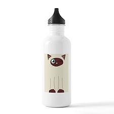 Cute Winking Cat Carto Water Bottle