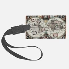 Old World Map 1630 Luggage Tag