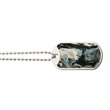 """""""Biting  His  Mother's  Leg"""" Dog Tags"""