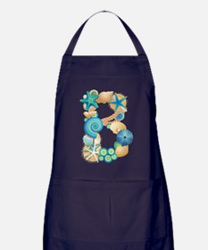 BEACH THEME INITIAL B Apron (dark)