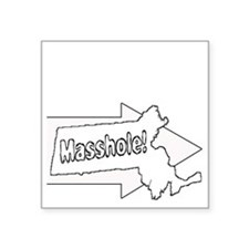 "Im with Masshole Square Sticker 3"" x 3"""