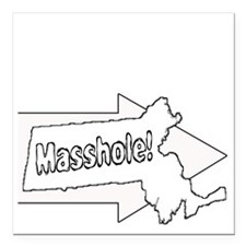 """Im with Masshole Square Car Magnet 3"""" x 3"""""""
