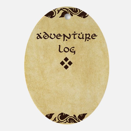 Adventure Log Oval Ornament