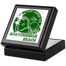 Dinosaur Apatosaurus Beach Keepsake Box