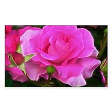 Radient Pink Rose Art Decal