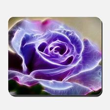 Purple Lighted Rose Mousepad