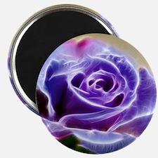Purple Lighted Rose Magnet