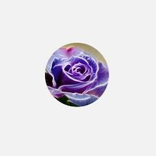 Purple Lighted Rose Mini Button