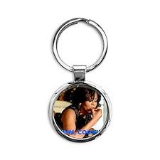 Michelle Obama Cookie Jar Round Keychain