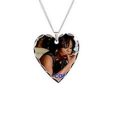 Michelle Obama Cookie Jar Necklace Heart Charm